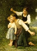 Elizabeth Gardner Bouguereau In The Woods oil painting artist